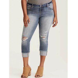Torrid Ripped Boyfriend Jeans Size 16